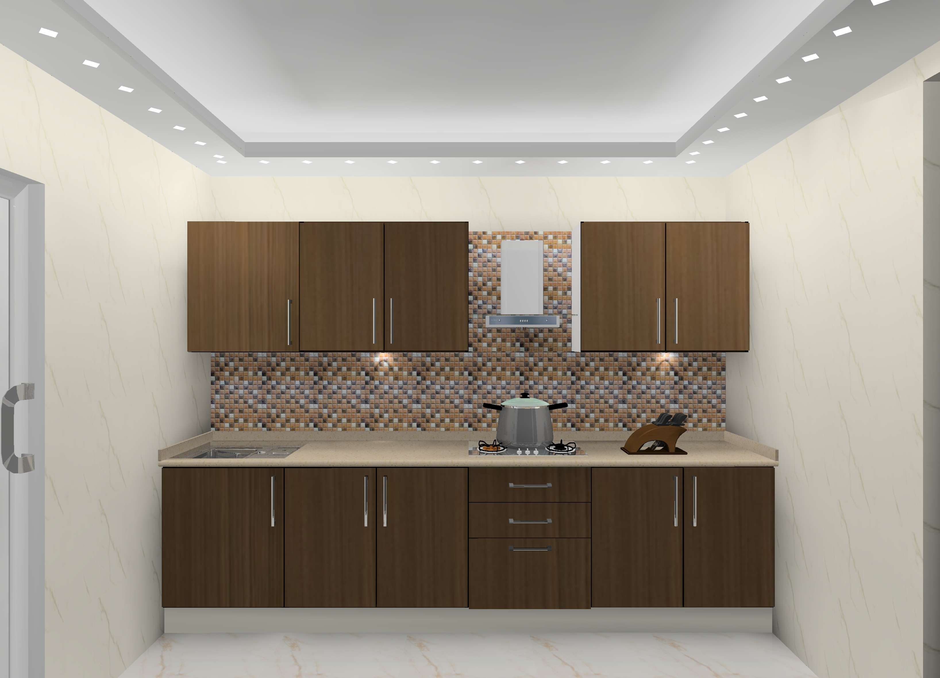 Straight Kitchen Modular Kitchen Designers In Delhi Ncr
